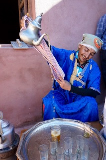Mustapha Pouring Mint Tea
