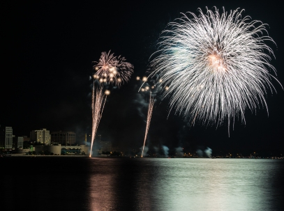 Fireworks over Lake Monona